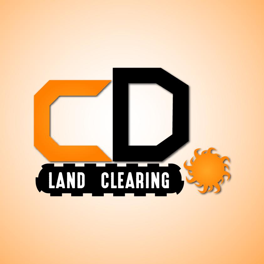 CD land clearing logo design